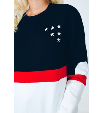 Sweatshirt tricolore Nelly